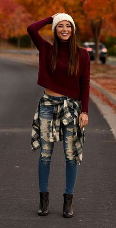 Cropped Sweaters are my personal Favorite |||| Fall Outfits ideas || Cute Outfits ideas for Fall/Winter || 40+ Insanely Cute Fall Outfits