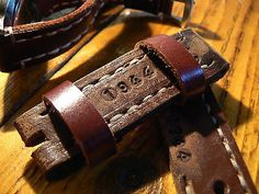 Strap leather 24mm handmade bands strapwatch for man WW2