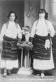 Young Jewish Greek girls from the Romaniote community in Ioannina