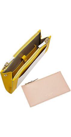 Smythson Panama Colorblock Multi-Zip Wallet -  - Barneys.com