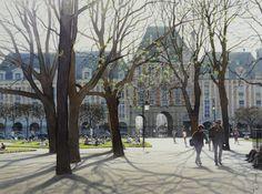 """""""The Place des Vosges"""", 37 x 27 cm.  by Thierry Duval"""