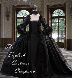 Koloniale georgischen Marie Antoinette aus dem 18. Jahrhundert-Kleid, ideal für die ultimative Halloween-Kostüm. Für den authentischen Büste Lift entbeint vollständig