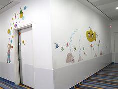 Décoration des urgences pédiatriques de l'hôpital de Cannes .......................................................... Decoration of the pediatric emergency, Cannes hospital