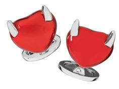 We all know love can get a little thorny. Show your love with Jan Leslie's Sterling Silver Horned Heart Cufflinks, $450