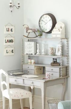 Simple and Modern Tips and Tricks: Shabby Chic Wardrobe Ana Rosa shabby chic pillows scrap.Shabby Chic Bedroom Vanity shabby chic farmhouse home tours. Shabby Chic Desk, Shabby Chic Bedrooms, Shabby Chic Kitchen, Shabby Chic Homes, Shabby Chic Style, Shabby Chic Furniture, Kitchen Decor, Shabby Chic Office Decor, Antique Furniture