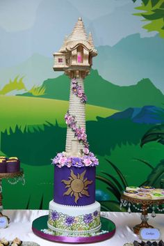 What an amazing cake at a Tangled birthday party! See more party ideas at CatchMyParty.com!