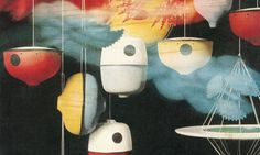 Bird Houses by George Nelson, designed for the Howard Miller company. I like the one that looks like a yo-yo.