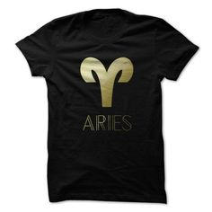 Aries Golden Astrology Sign Horoscope T-Shirts, Hoodies (19$ ==► Order Shirts Now!)