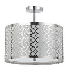 Madrid 3-light 60-watt Semi-flush Pendant Light | Overstock.com Shopping - The Best Deals on Chandeliers & Pendants