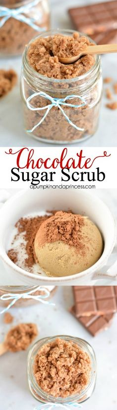 DIY Masque : Description DIY Chocolate Sugar Scrub www. Diy Spa, Diy Beauté, Diy Crafts, Easy Diy, Sugar Scrub Homemade, Sugar Scrub Recipe, Diy Body Scrub, Diy Scrub, Bath Scrub