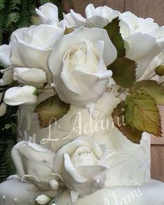 Flores em pasta americana