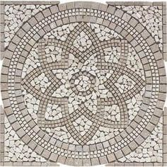 FLOORS 2000�36-in x 36-in Medallions Multicolored Natural Stone Mosaic Floor Tile