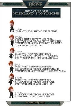 Disney's Brave - How to do the Hightland Scottsche