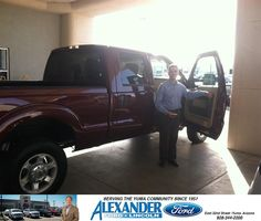 #HappyAnniversary to Edward Messer on your 2013 #Ford #Super Duty F-250 Srw from Everyone at Bill Alexander Ford Lincoln!