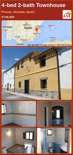 Townhouse for Sale in Canada Del Trigo, Murcia, Spain with 4 bedrooms, 2 bathrooms - A Spanish Life Murcia, Valencia, Portugal, Alicante Spain, Study Areas, Double Bedroom, Restaurant Bar, Townhouse, Swimming Pools