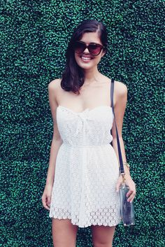 I like it because rompers are awkward, but this makes it a dress with shorts underneath it!