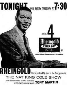 "Newspaper ad, for, ""The Nat King Cole Show"", 1950s"