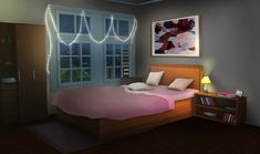 bedroom anime episode interactive night gacha int bed aesthetic backgrounds living manga wallpapers chambre bedrooms cenario dessin fond chibi quarto