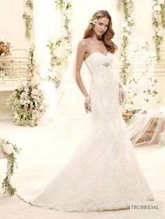 2015 Mermaid Sweetheart Beading Embroidery Court Train Lace Wedding Dresses