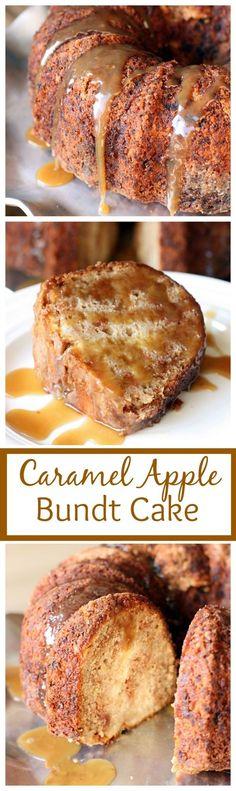 Caramel Apple Bundt Cake (My favorite Fall Cake!) Recipe on tastesbetterfroms...