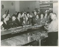 My great-grandfather was bartender at the Sazerac Bar in New Orleans for nearly 50 years. This photo of him behind the bar was taken September 26, 1949, the first day women were admitted to the Sazerac. Looks like he had a busy day!