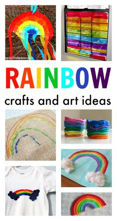 Lovely rainbow crafts and art ideas