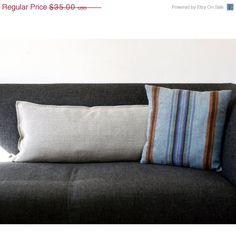 SULLA copertina di cuscino lombare in vendita - tessuto di lino naturale grigio - eco amichevole cuscini buttare 14 x 26 on Etsy, 23,76€
