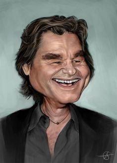 #Caricature: Kurt-Russell - http://dunway.us/