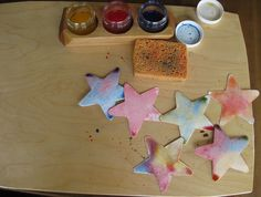 Watercolored Stars by Amy Wonder Years, via Flickr