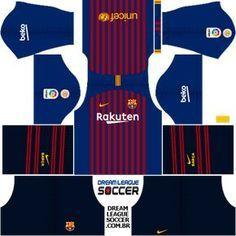 Kit-barcelona-DLS-Home-uniforme-casa-18-19 Logo Barcelona, Camisa Barcelona, Barcelona Football, Psg, Juventus Fc, Soccer Kits, Football Kits, Messi Boots, Real Madrid Kit