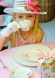 Vintage Tea Party Plan: A 37-Page Guide to Planning Your Own Tea Party  #kids #party  I think it should be all about the hats and gloves and pearls!!