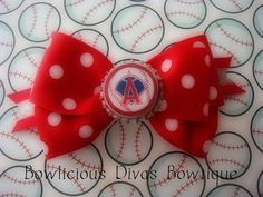 Angels Baseball Inspired Hair Bow by Bowliciousdivas on Etsy, $9.00  Customer Appreciation Sale on my Etsy Store.. To receive your 10% Discount , please enter the coupon code : SPECIAL