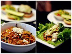 Noodles and salad, in Atlanta