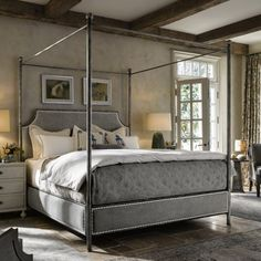 Universal Furniture Sojourn Respite Upholstered Canopy Bed - Beds at Hayneedle