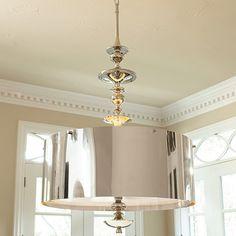 Lighting Central Webstore: Turned Light Drum Pendant Size: Large