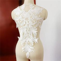 Off White Lace Fabric Feather Lace Applique Embroidered Lace Wedding Bridal Lace Fabric Dress Gauze Tulle (One Panel ) Colored Wedding Dresses, Modest Wedding Dresses, Bridal Dresses, Wedding Gowns, Wedding Lace, Fall Wedding, Lehenga Wedding, Sparkle Wedding, Bridal Gown