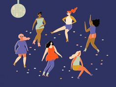 Bachelorette illustration created for Facebook by Naomi Wilkinson