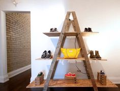 Shoe Display. Would replace the plywood with something else though