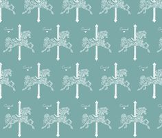 Carousel fabric by paper_panda on Spoonflower - custom fabric