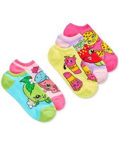 5-Pk. Shopkins 5-Pk. No-Show Ankle Socks, Toddler Girls (2T-5T) & Little Girls (2-6X)
