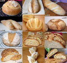 Cuántas veces el pan es el tema de conversación… cuánta necesidad hay de que mejore la calidad del pan que nos ofrecen en los comercios, no sólo en los supermercados, también en muchas panaderías. Pero también hay una opción que siempre recomendamos, hacer pan en casa, si no se puede hacer a diario, se puede hacer semanalmente, o al menos esporádicamente, cada uno conoce sus posibilidades. En cualquier caso es muy satisfactorio servir en tu mesa tu propio pan. Podéis elegir entre tantas… Pan Bread, Bread Baking, Pain Pizza, Pan Dulce, Artisan Bread, Cooking Recipes, My Recipes, Mexican Food Recipes, Gastronomia