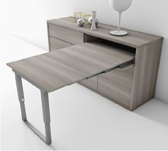 Table d pliante salon rabattable small place pinterest tables mesas et - Console qui se transforme en table ...