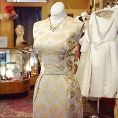 Vintage gold brocade cocktail dress! #Padgram
