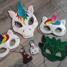 #magical #customorder from @sewhungryhippie and it was so much fun!! Thanks lady!! #pretend #costumes #mask #poopemoji #toiletpaperemoji #dragons #dragon #unicorns #unicorn #unikitty #unikitties