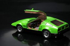 Founders Edition 1/43 scale model of the Canadian Bricklin SV-1 sports car with gullwing doors, featuring open driver's door, diecast in finest quality resin by Automodello! $94.95