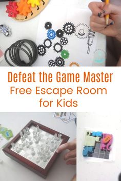 Kids get to practice critical thinking skills and defeat the game master in this free Games Gone Wrong Escape Room! Escape Room Diy, Escape Room For Kids, Escape Room Puzzles, Educational Activities For Kids, Fun Activities, Activity Ideas, Thinking Skills, Critical Thinking, Diy Lock