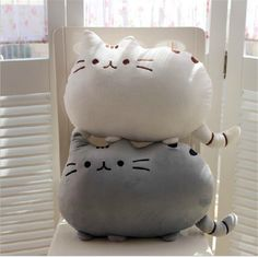 Cute animal Pillows | Cute Soft Cotton Pusheen shape Cat Pillow Cushion Plush Baby Toys ...