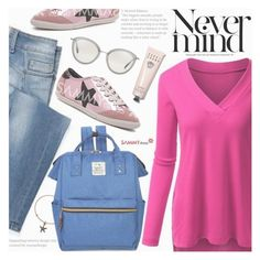 """""""School Style"""" by pokadoll ❤ liked on Polyvore featuring LIU•JO, Alex and Ani, Oliver Peoples, Bobbi Brown Cosmetics, polyvoreeditorial, polyvorefashion and polyvoreset"""