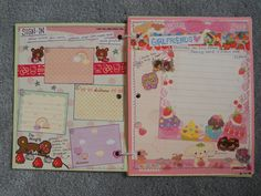 sign-in page on the left and theme page 1 on the right. each swapper who gets this slam will sign-in with their username, address and date. the theme of the first page is girlfriends and i like to add more than 1 sticker to a page if i can. Kawaii Stickers, Slammed, Booklet, Signs, Username, Paper, Fun, Handmade