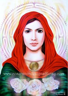 Mary of Magdala aka Mary Magdalene. It's disgusting to see and hear all the false stories about Maria Magdalena and Jesus. Read the book Poem of the Man God if you want see and hear the facts and most importantly read the bible too. Divine Goddess, Goddess Art, Divine Mother, Mother Mary, Sacred Feminine, Divine Feminine, Marie Madeleine, Temple Of Light, Celtic Mythology